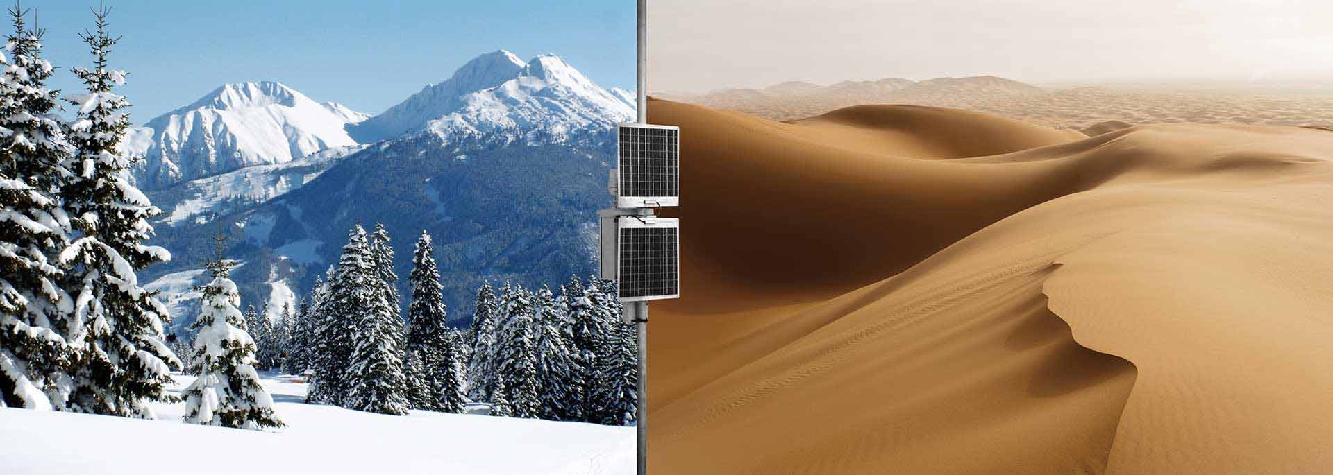 Sand dunes and alps together with Novator Solutions Remote Measurement equipment